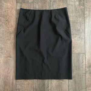 Theory Pinstripe Pencil Skirt